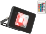 Knightsbridge 230V IP65 50W RGB LED Black Die-Cast Aluminium Floodlight