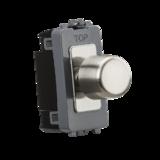 Knightsbridge 1G 2-Way 10-200W (LED 10-100W) Dimmer Module B/Chrome