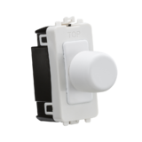 Knightsbridge 1G 2-Way 10-200W (LED 10-100W) Dimmer Module Matt White