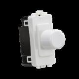 Knightsbridge 1G 2-way 10-200W (LED 10-100W) Dimmer Module White