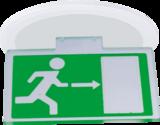 Knightsbridge 226mm Running Man Exit Sign Horizontal Accessory