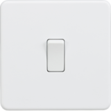 Knightsbridge Screwless 10A 1G Intermediate Switch Matt White