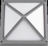 Knightsbridge IP65 220-240V Die-Cast Aluminium 1x20W E27 CFL Square Bulkhead