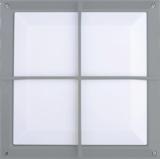 Knightsbridge TPC2156 220-240V Die-Cast Aluminium 1x20W E27 CFL Square Bulkhead
