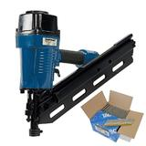Silverline 282400 Air Framing Nailer 90mm Kit with 3300 x 2.8/50mm Ring Nails