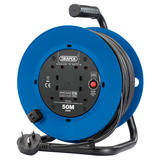 Draper 02120 230V Four Socket Industrial Cable Reel (50M)