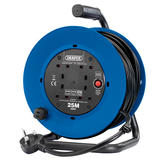 Draper 02122 230V Heavy Duty Industrial Four Socket Cable Reel (25M)