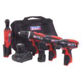 Sealey CP1200 Series 4 x 12V Cordless Power Tool Combo Kit