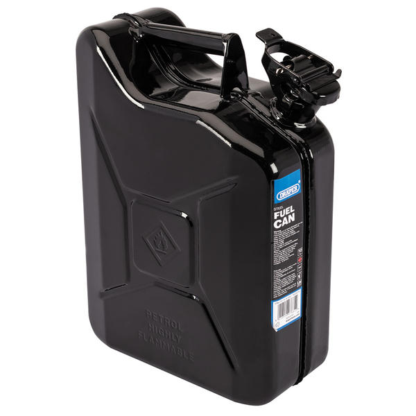 Draper 07664 10L Steel Fuel Can (Black) Thumbnail 1