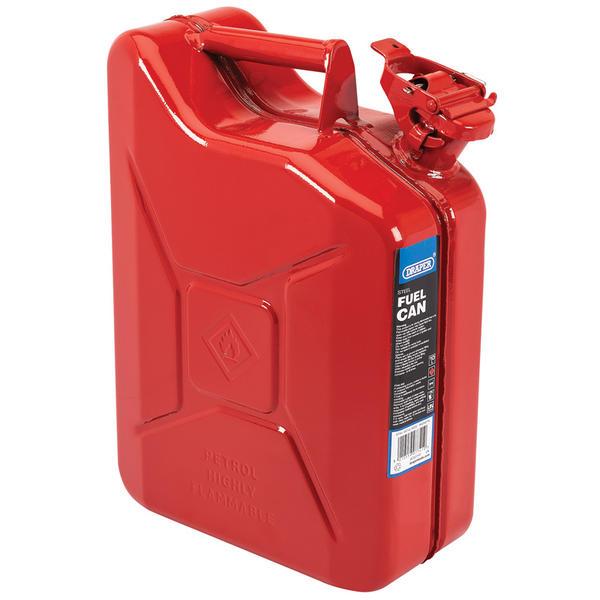 Draper 07741 10L Steel Fuel Can (Red) Thumbnail 1