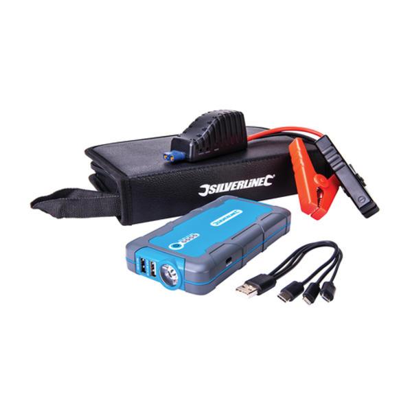 Silverline 684786 12V Lithium Jump Starter & Powerbank Thumbnail 1