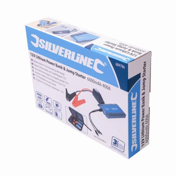 Silverline 684786 12V Lithium Jump Starter & Powerbank Thumbnail 10