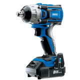"Draper 55343 D20 20V Brushless 1/2"" Mid-Torque Impact Wrench with 2 x 2Ah Batteries and Charger (250Nm)"