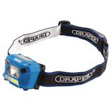 Draper 90067 3W Rechargeable COB LED Headlamp