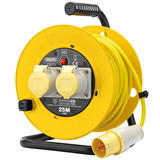 Draper 02124 Twin Extension Cable Reel 25m 110V