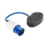 Defender 16A Plug To 2x13A Socket 1.5mm Blue Cable 240V