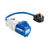 Defender E85301 13A Plug To 16A Socket 1.5mm Blue Cable 240V