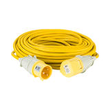 Defender E85233 25m Extension Lead 2.5mm Yellow Cable 16A 110V