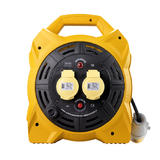 Defender E86540 1.5mm 20m Industrial Cable Reel 2x16A Outlets 110V