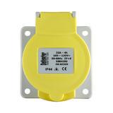 Defender E884290 32A Panel Socket Yellow 110V