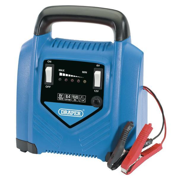 Draper 70546 6V/12V Battery Charger Thumbnail 1