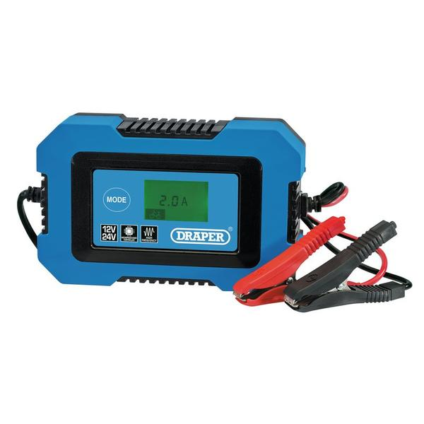 Draper 70547 12V/24V Battery Charger Thumbnail 1