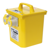 Sealey WST3000 3kva Portable Transformer 2x16A Outlets 110V