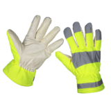 Sealey 9135 Yellow Hi-Vis Warm Hand Gloves One Size Fits All