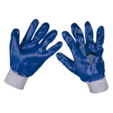 Sealey 9118 Nitrile Knitted Wrist Gloves Size Large