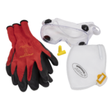 Sealey SEP3 Flexi Grip Gloves, FFP2 Mask, Goggles & Ear Plugs PPE Kit