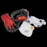 Sealey SEP4 Flexi Grip Gloves, FFP2 Mask, Goggles & Ear Defenders PPE Kit