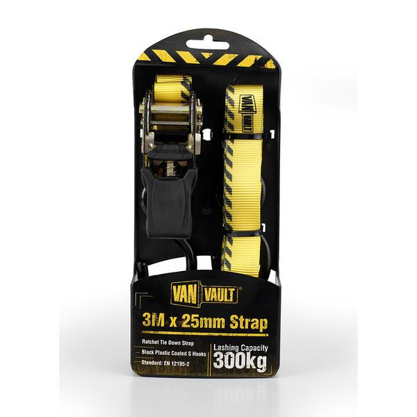 Van Vault S10677 3.0M X 25mm Ratchet Strap Thumbnail 1
