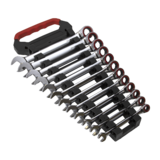 Sealey AK63940 Ratchet Combination Spanner Set 12pc Metric 8-19mm