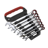 Sealey AK63941 Ratchet Combination Spanner Set 7pc Metric