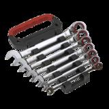 Sealey AK63945 Reversible Ratchet Combination Spanner Set 7pc Metric