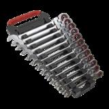 Sealey AK63942 Flexi-Head Ratchet Combination Spanner Set 12pc Metric