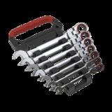 Sealey AK63943 Flexi-Head Ratchet Combination Spanner Set 7pc Metric