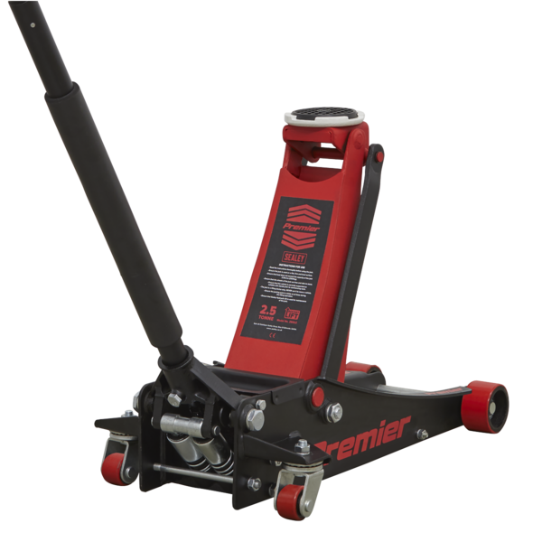 Sealey 2501LE Trolley Jack 2.5tonne Low Entry with Rocket Lift Thumbnail 2