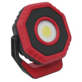Sealey LED700PR Rechargeable Pocket Floodlight with Magnet 360° 7W COB LED - Red