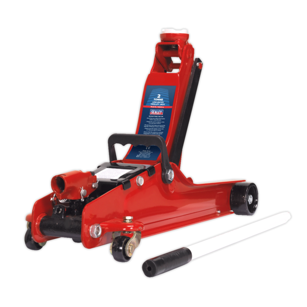 Sealey 1020LEBAGCOMBO Trolley Jack 2tonne - Red and Accessories Bag Thumbnail 2