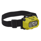 Sealey HT452IS Head Torch XP-G2 CREE LED Intrinsically Safe 216 Lumens 100/75m
