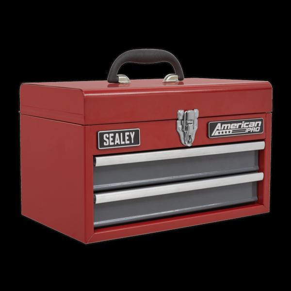 Sealey AP2602BB Toolbox 2 Drawer with Ball Bearing Slides Thumbnail 1