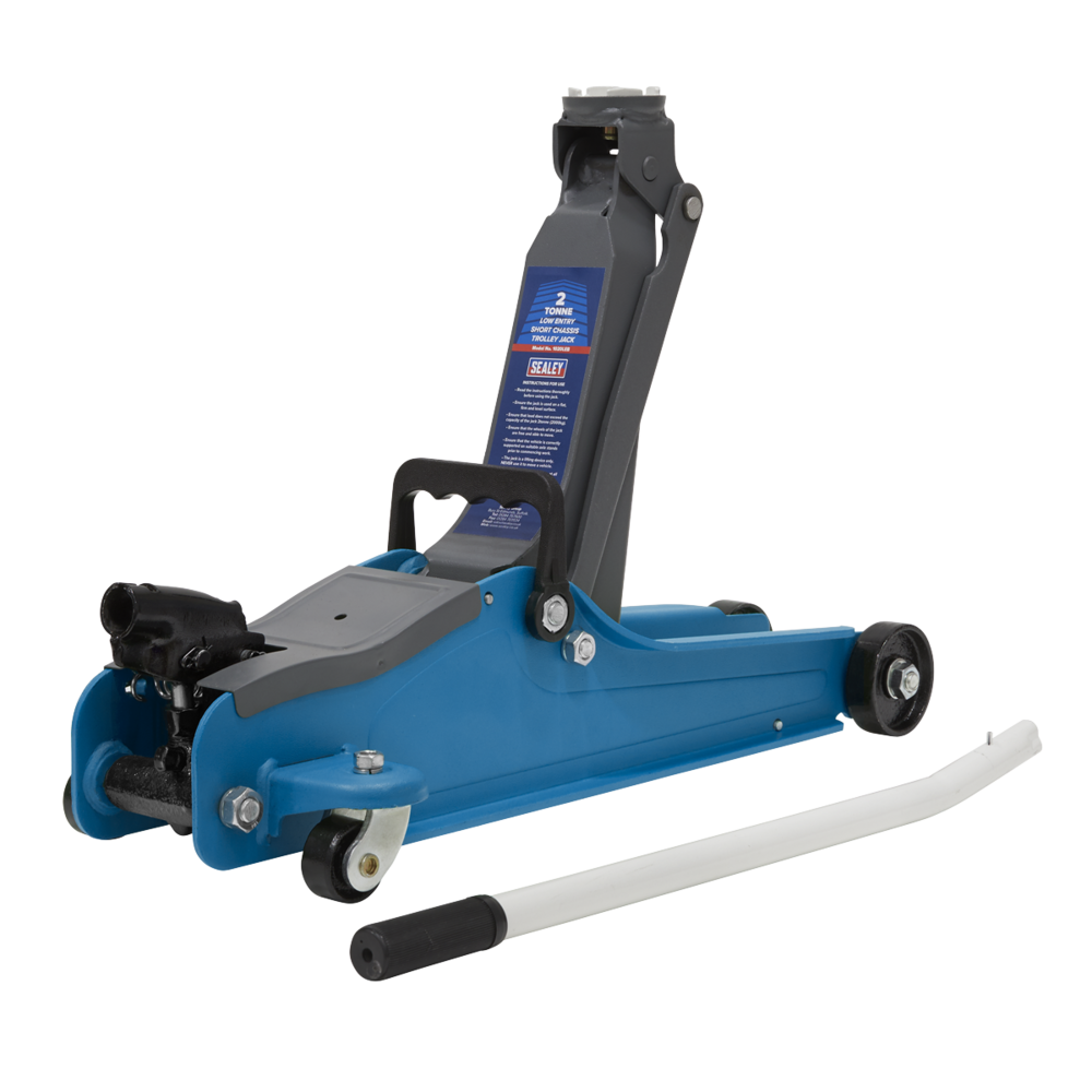 Sealey 1020LEB Trolley Jack 2tonne Low Entry Short Chassis - Blue