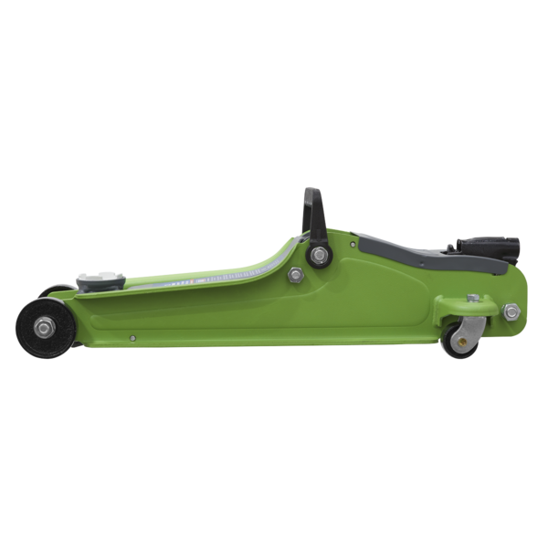 Sealey 1020LEHV Trolley Jack 2tonne Low Entry Short Chassis - Hi-Vis Green Thumbnail 2