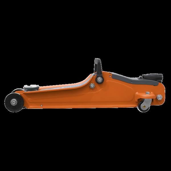 Sealey 1020LEO Trolley Jack 2tonne Low Entry Short Chassis - Orange Thumbnail 2