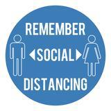 Draper 31592 Social Distancing Wall Sticker
