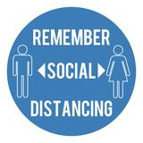 Draper 31527 Social Distancing Floor Sticker
