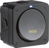 Knightsbridge MLOP21 IP66 20AX 1G SP 2-way switch - Black