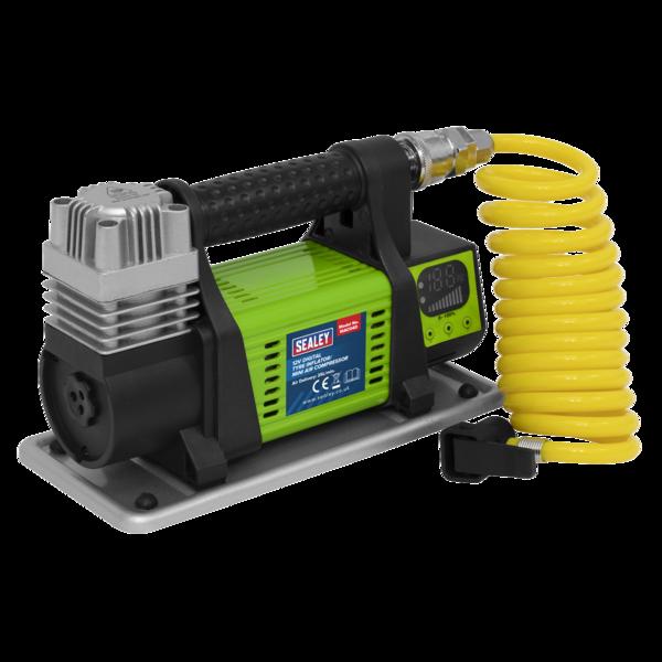 Sealey MAC04D Digital Tyre Inflator/Mini Air Compressor 12V Max Pressure 100psi Thumbnail 2
