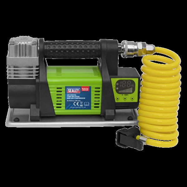 Sealey MAC04D Digital Tyre Inflator/Mini Air Compressor 12V Max Pressure 100psi Thumbnail 3